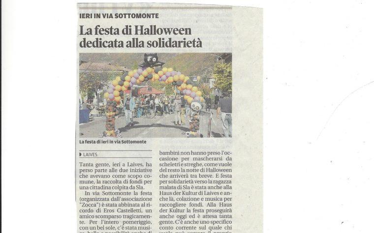 LAIVES: ESIBIZIONE ALLA FESTA DI HALLOWEEN